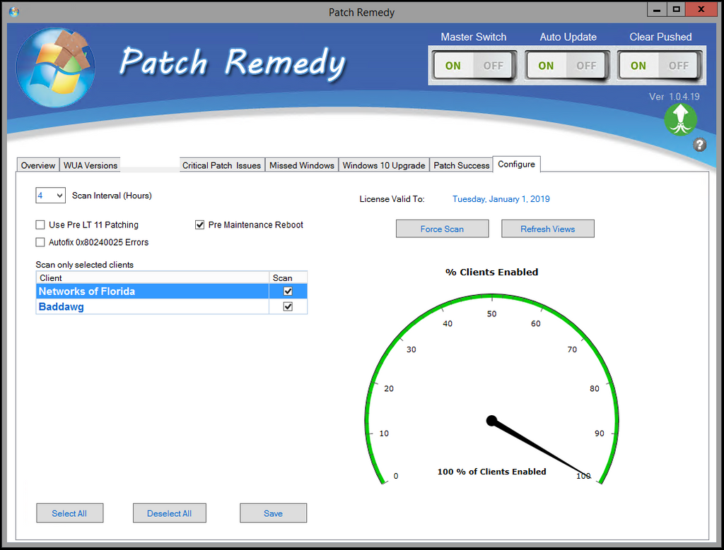 Patch Remedy configure