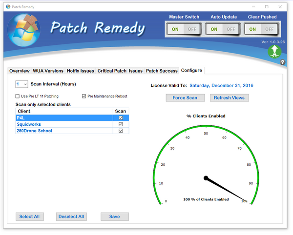 Configure Patch Remedy