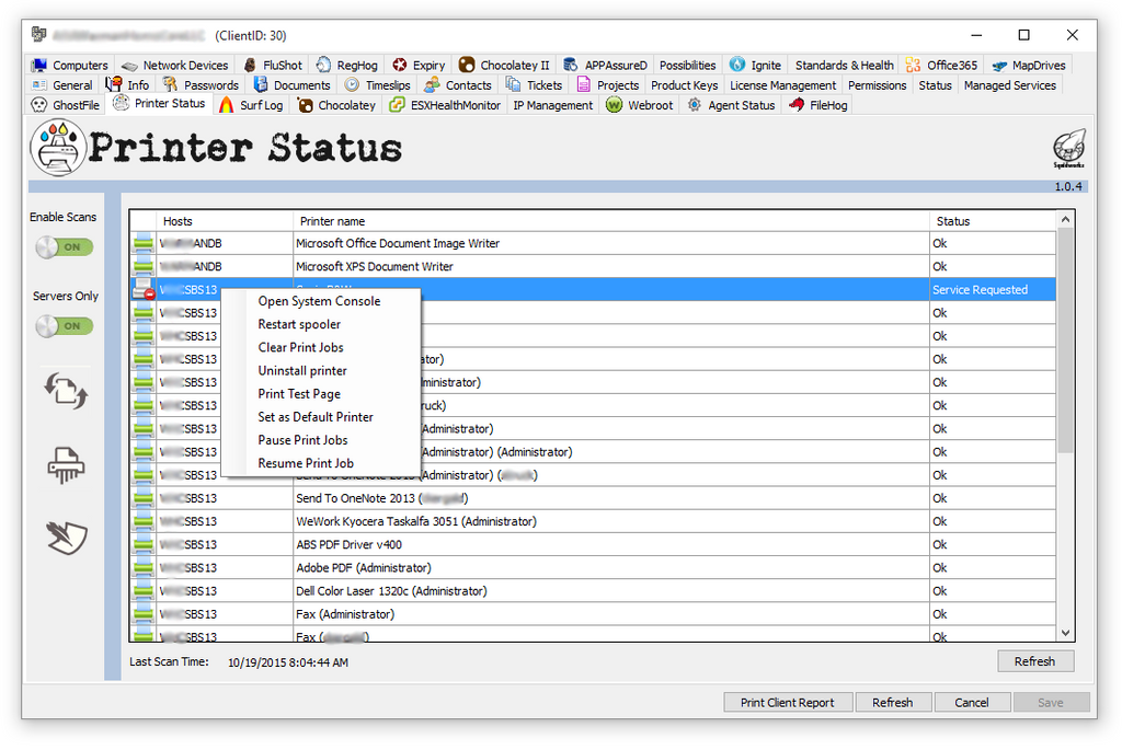 Plugin of the Month - Printer Status Plugin for ConnectWise