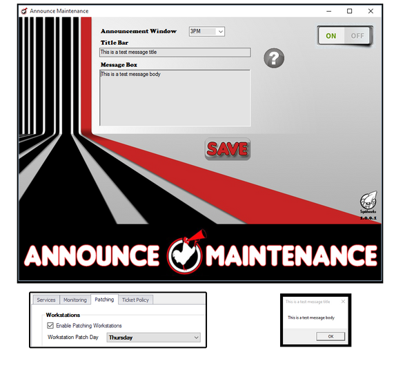 Announce Maintenance Console