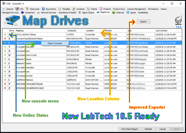 Map drives viewer for Automate and LAbTech