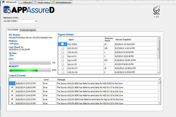 APPAssureD Backup Manager