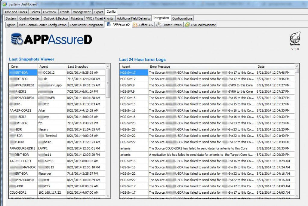 APPAssureD Backup Manager Plugin for LabTech