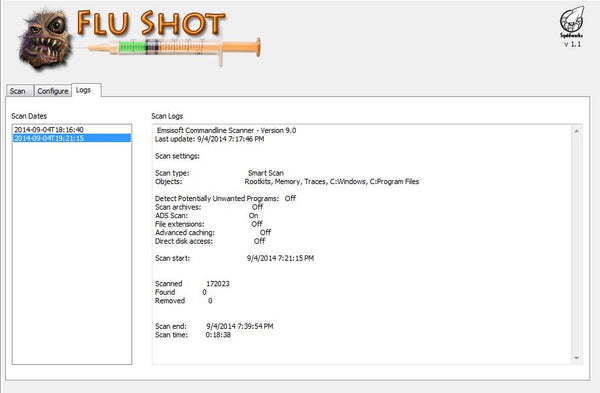 Flu Shot Antivirus Plugin