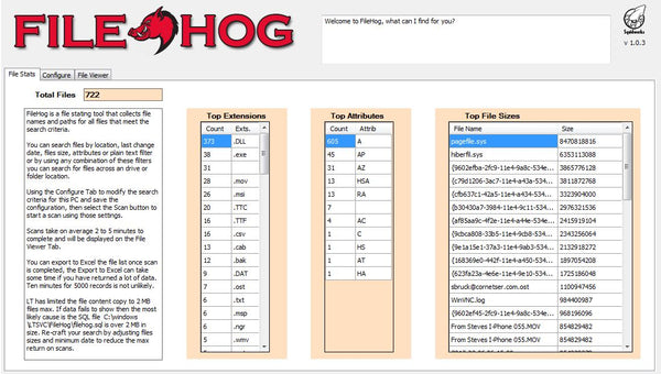 Filehog Storage Analyzer Plugin