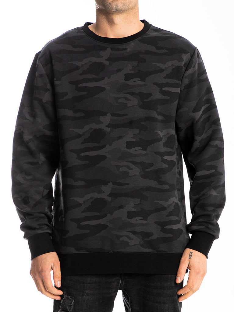The 24 Blank Premium Crew Sweatshirt in Black Camo
