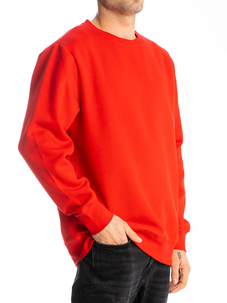 The 24 Blank Premium Crew Sweatshirt in Red