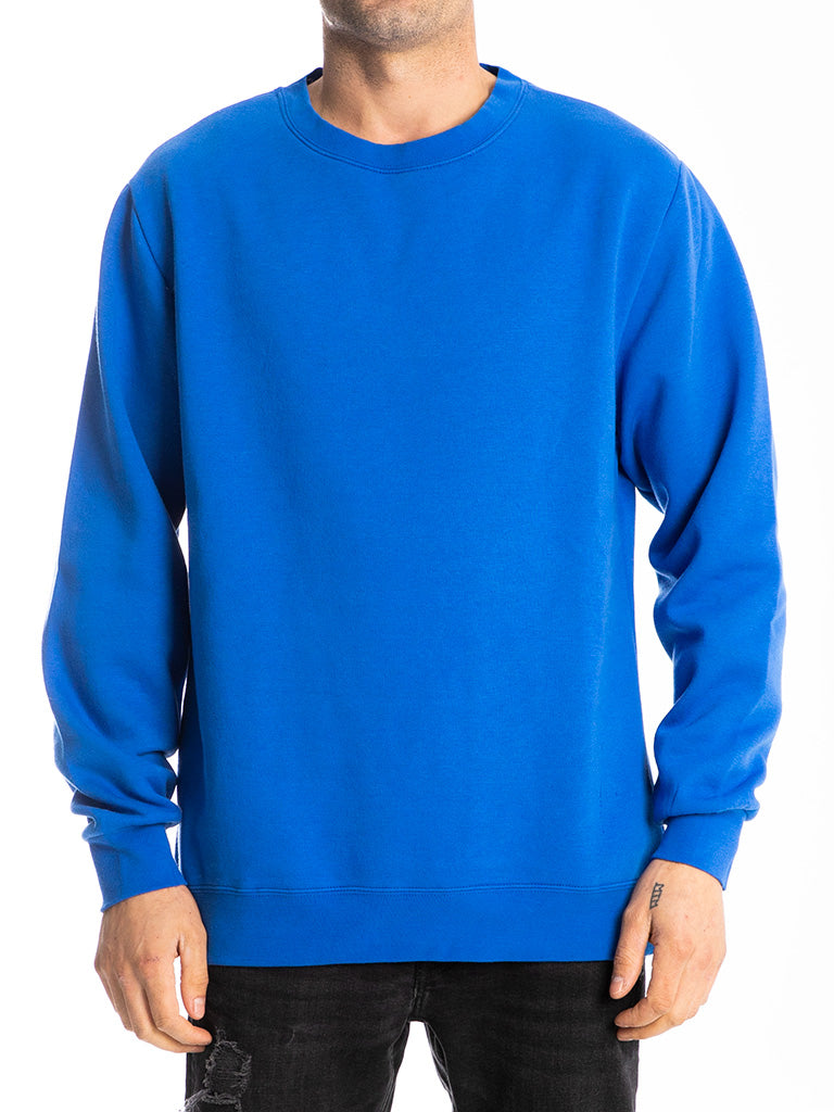 The 24 Blank Premium Crew Sweatshirt in Strong Blue