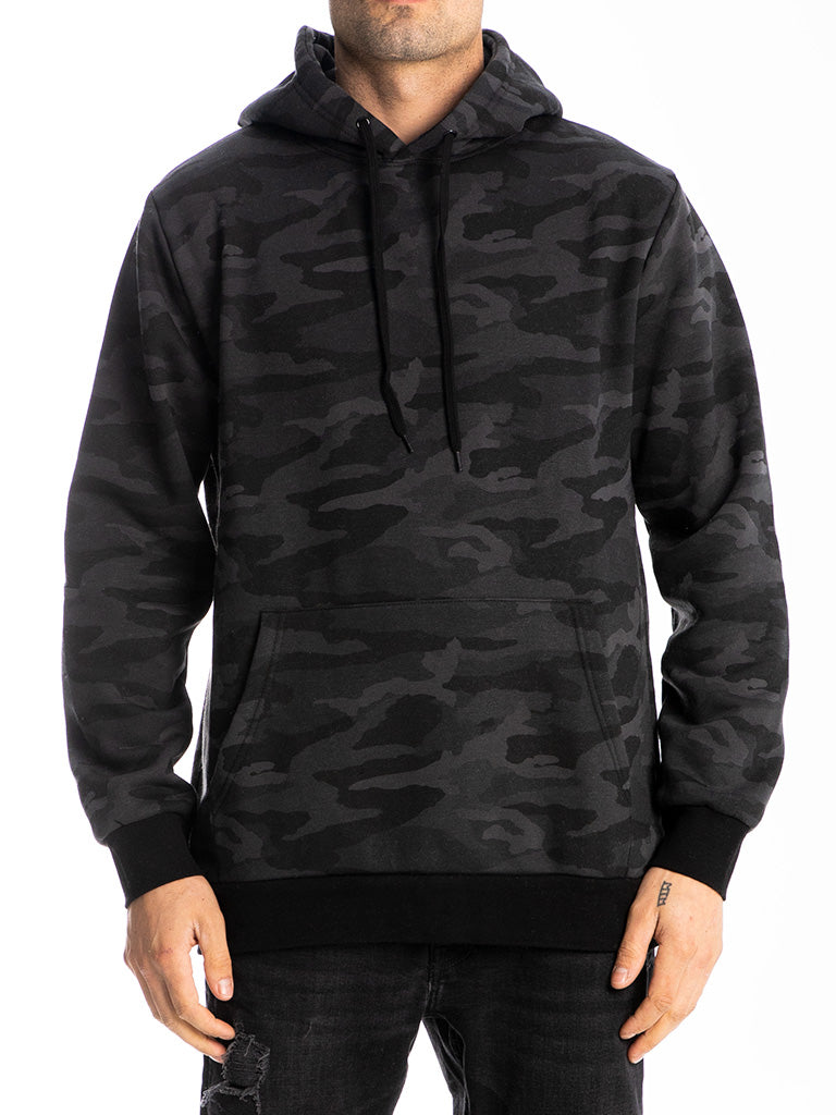 The 24 Blank Premium Pullover Hoodie in Black Camo