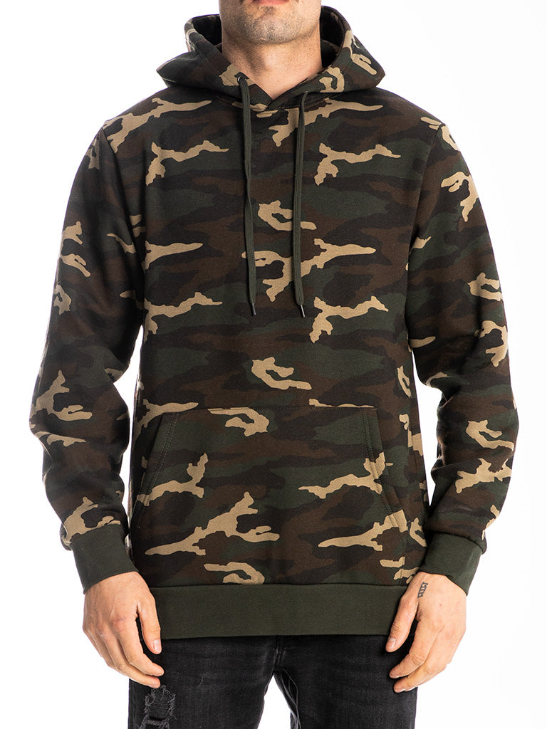 The 24 Blank Premium Pullover Hoodie in Camo