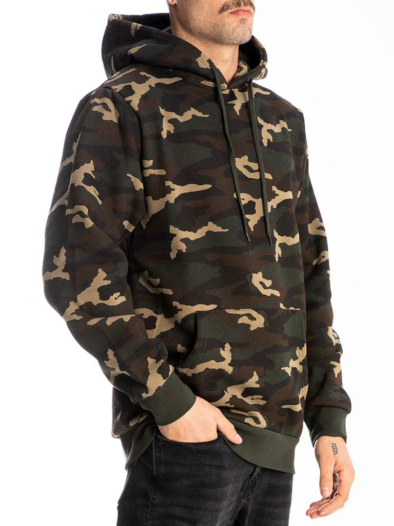 The 24 Blank Premium Pullover Hoodie in Green Camo