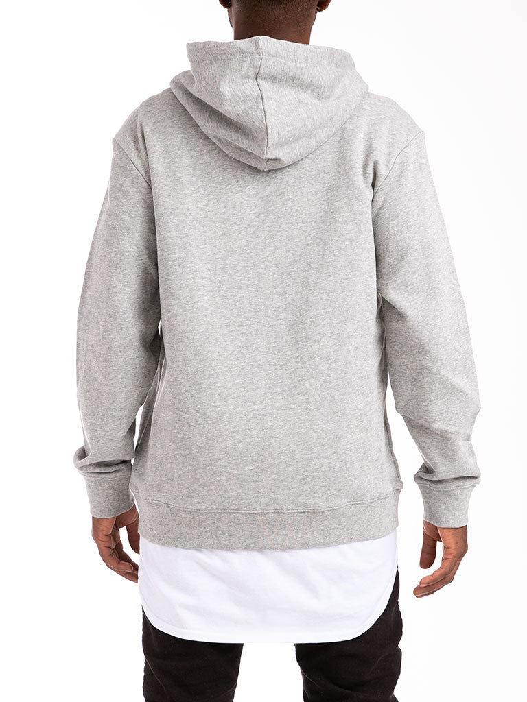 The 24 French Terry Lux Zip Up Hoodie in Heather Grey