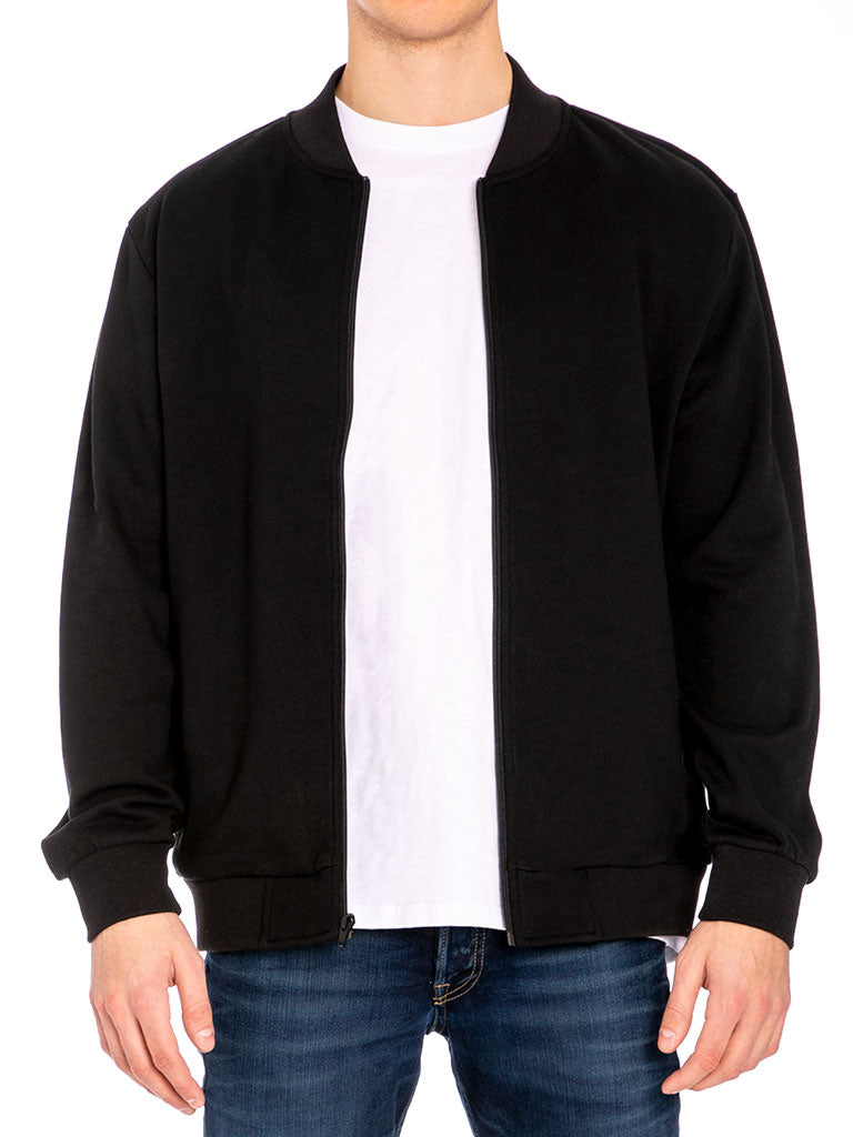 The 24 Blank French Terry Jacket Black