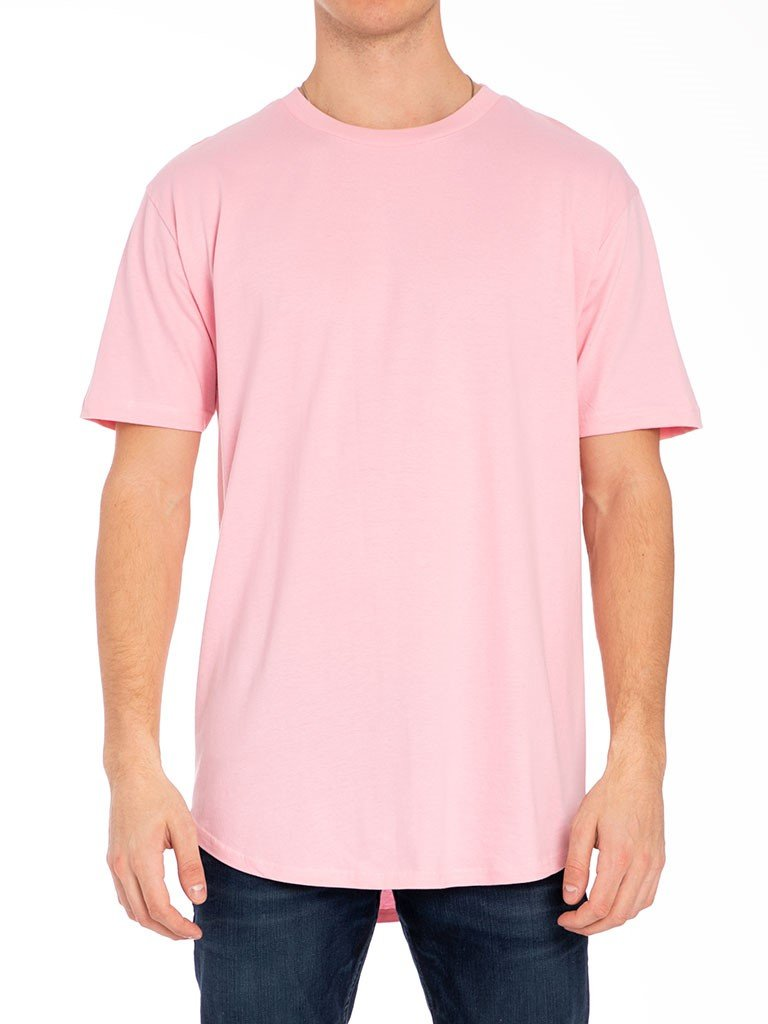 The 24 Blank Premium Scallop Tee in Pink