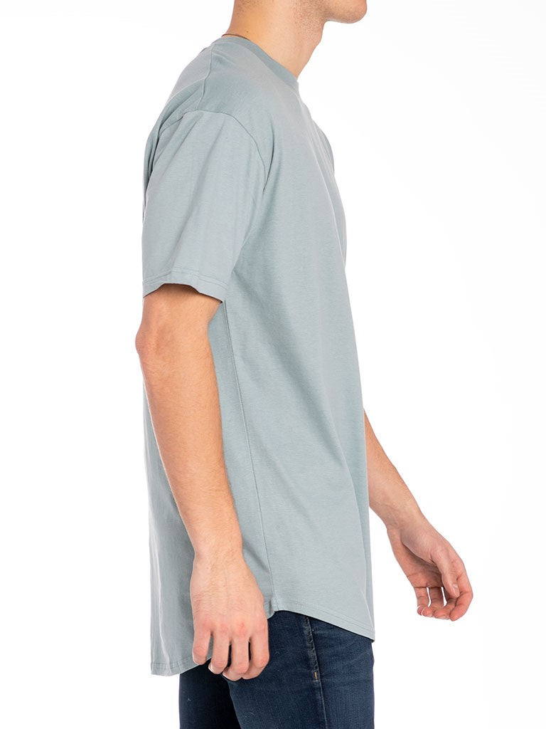 The 24 Blank Premium Scallop Tee in Sage