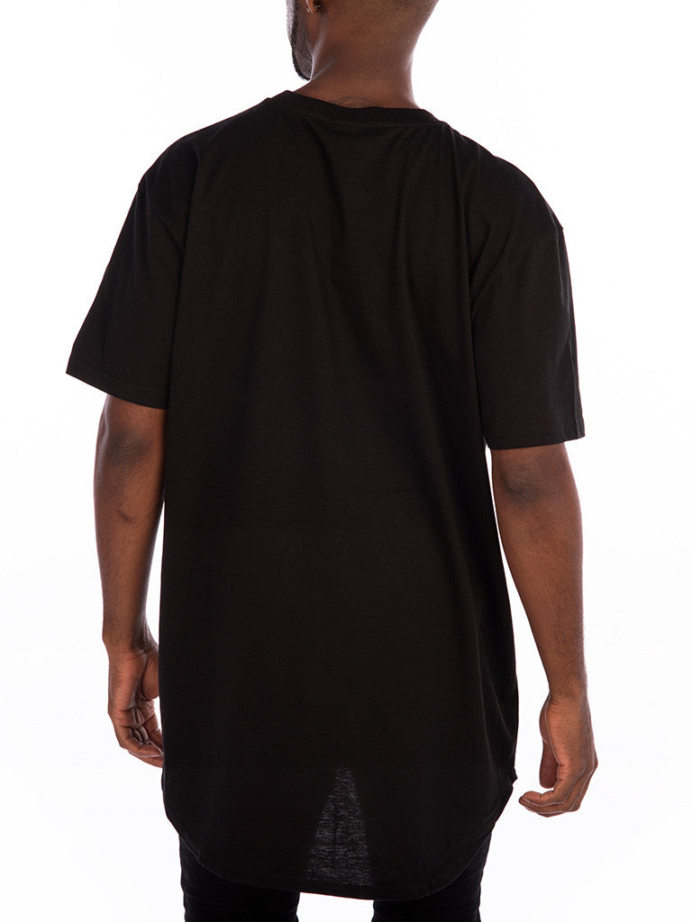 The 24 Blank Premium Scallop Tee in Black