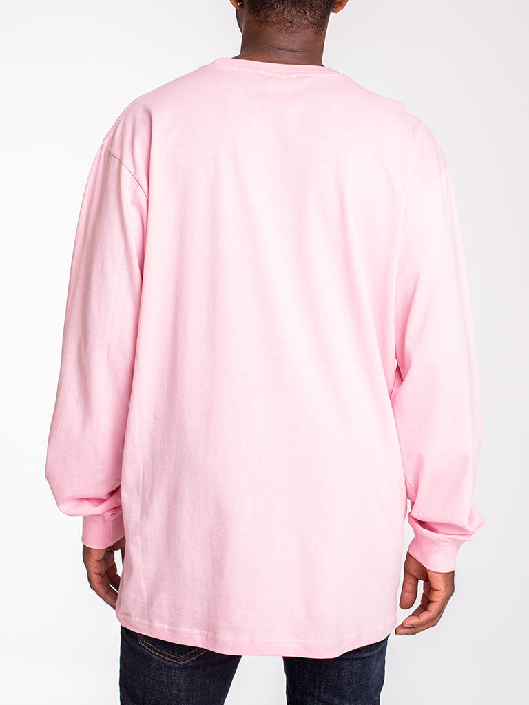 The 24 Blank Premium L/S Crew Tee in Pink