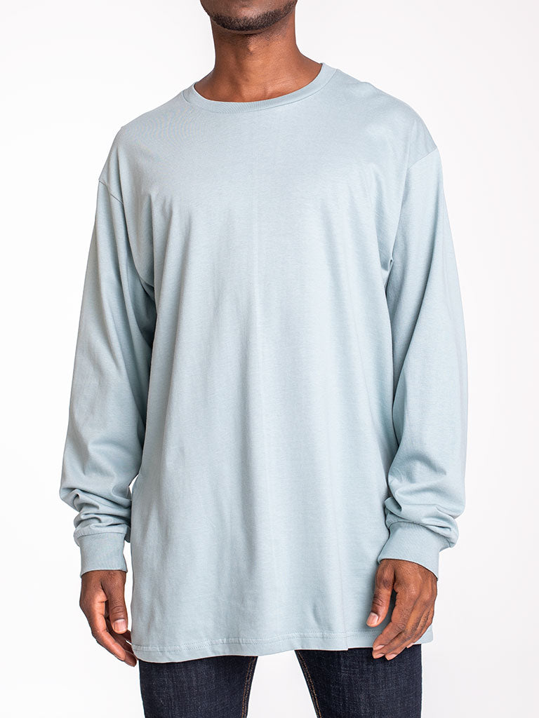 The 24 Blank Premium L/S Crew Tee in Sage