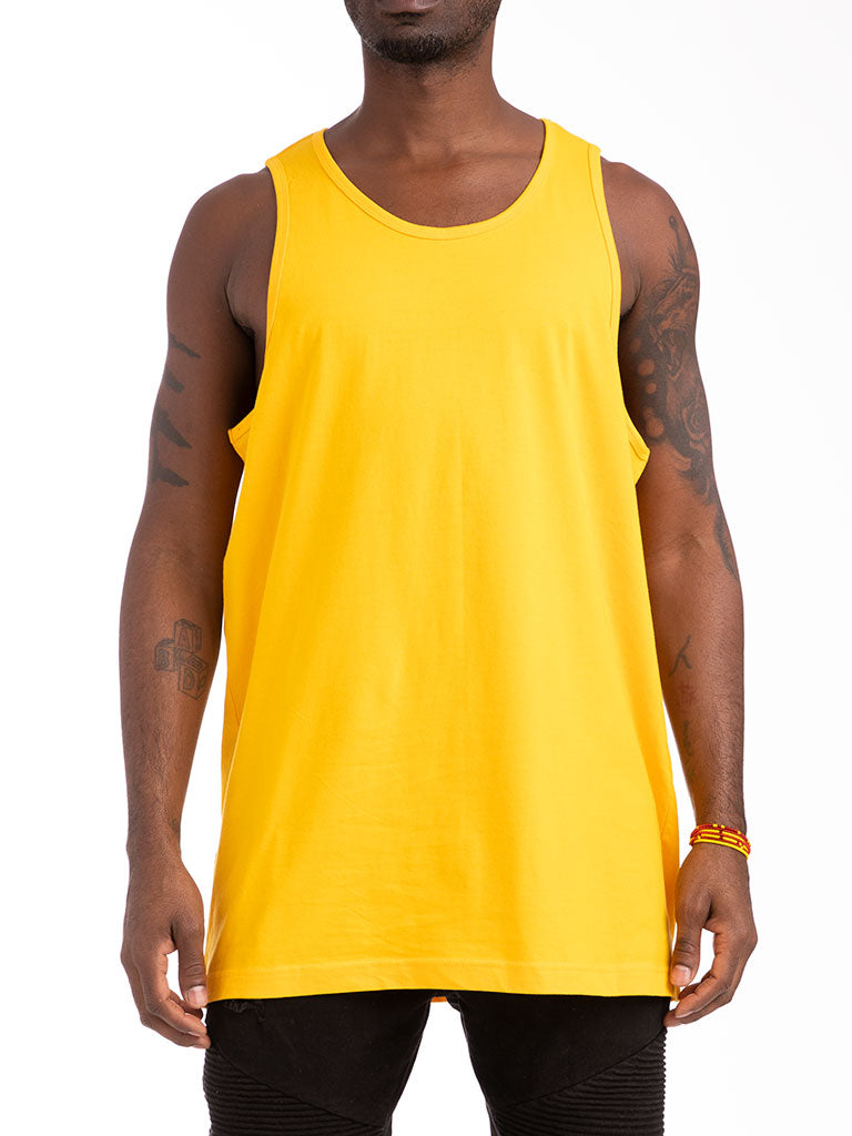 The 24 Blank Premium Tank Top in Gold