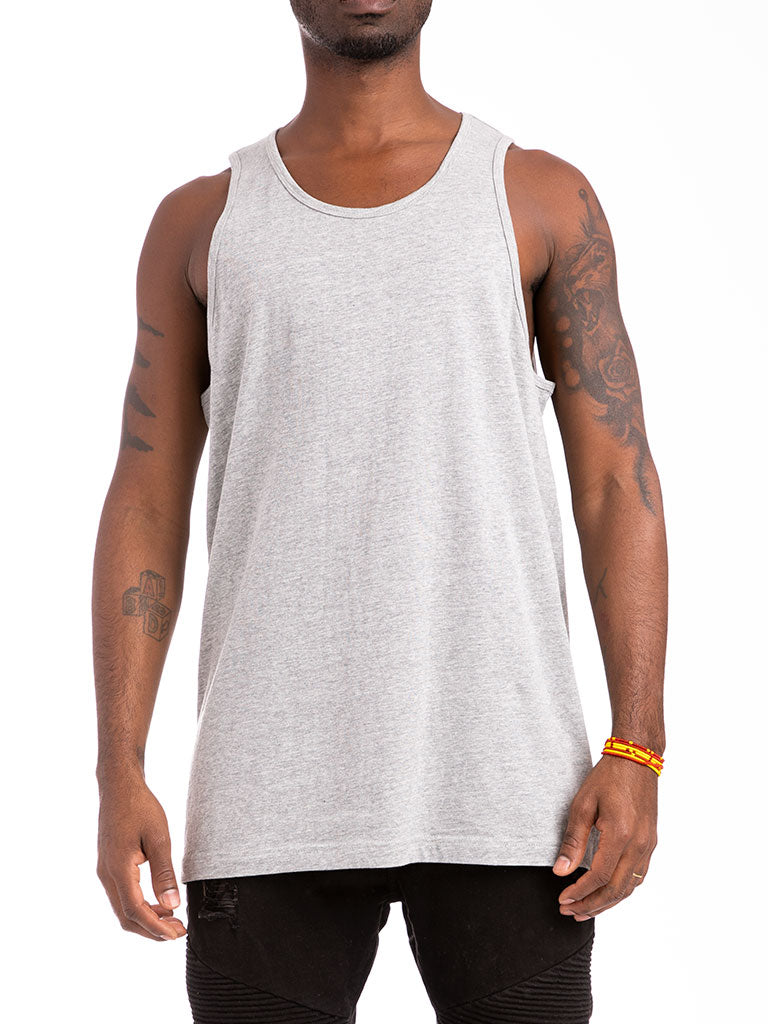 The 24 Blank Premium Tank Top in Heather Grey
