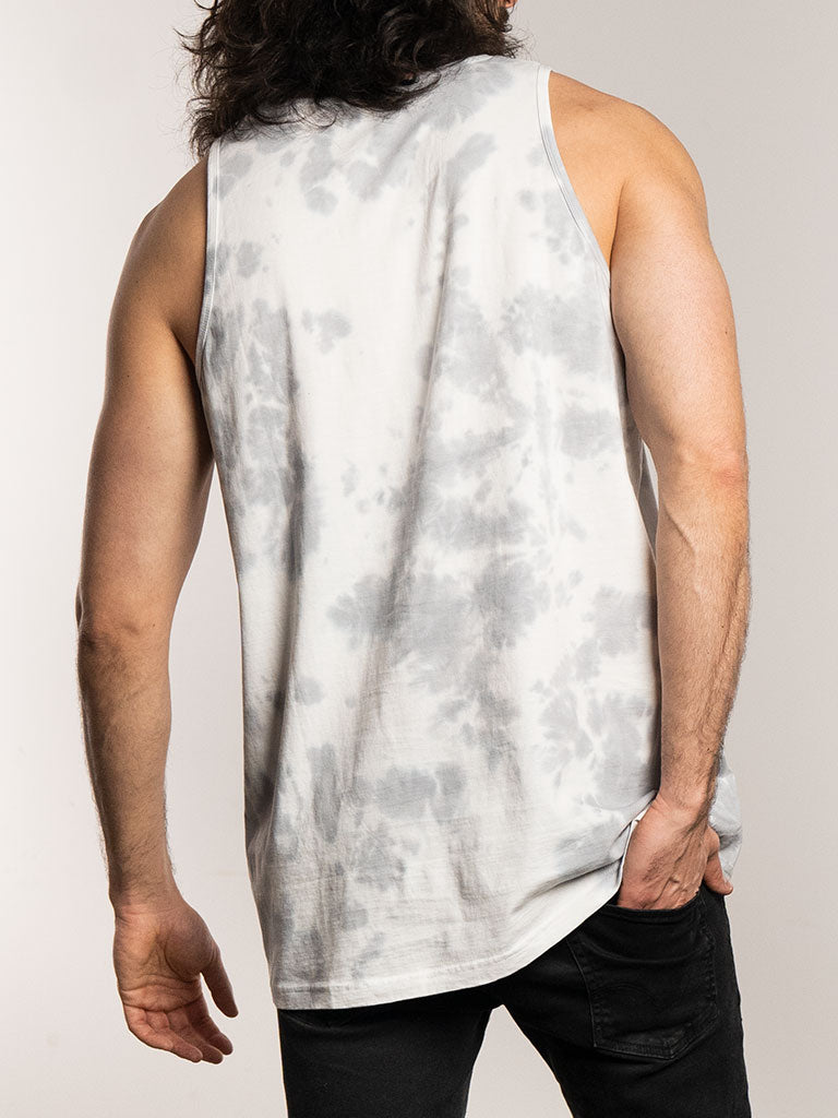 The 24 Blank Premium Tank Top in White Tie Dye