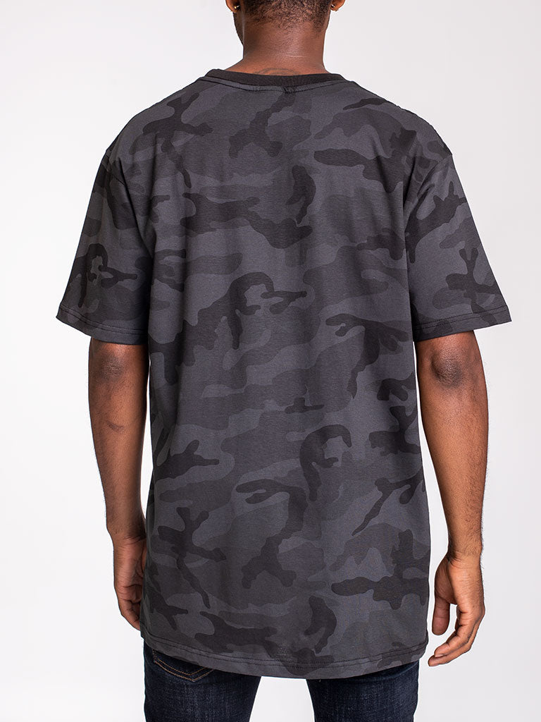 The 24 Blank Premium Crew Tee in Black Camo