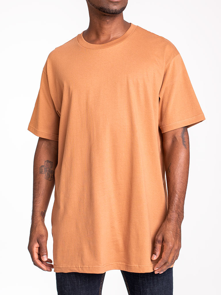 The 24 Blank Premium Crew Tee in Brown