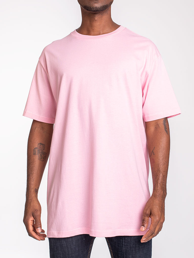 The 24 Blank Premium Crew Tee in Pink