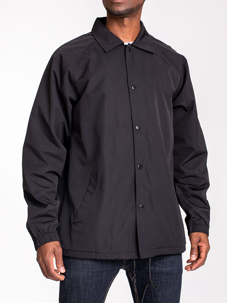The 24 Blank Premium Coach Jacket in Black