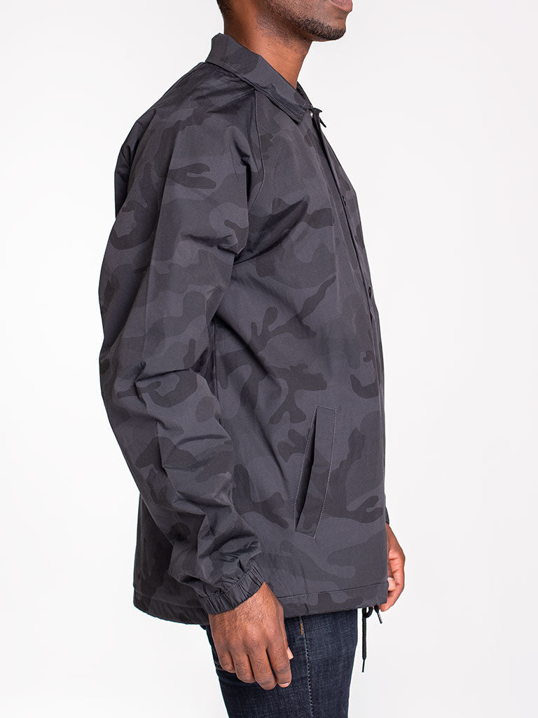 The 24 Blank Premium Coach Jacket in Black Camo