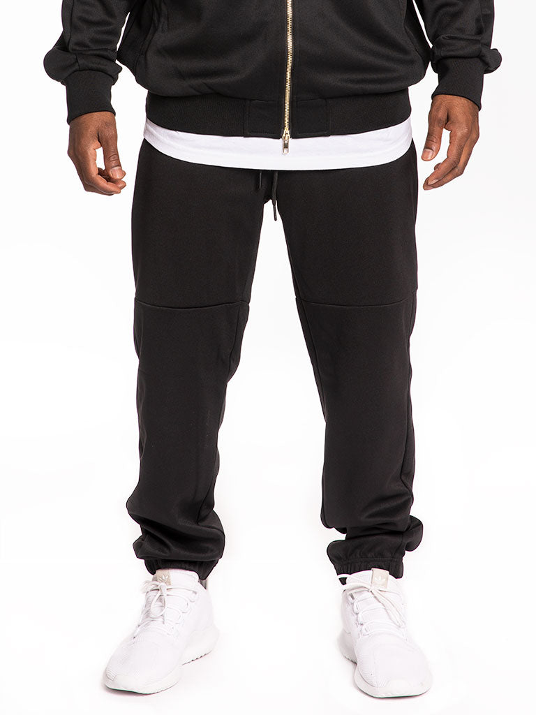 The 24 Blank Premium Poly Track Pants in Black