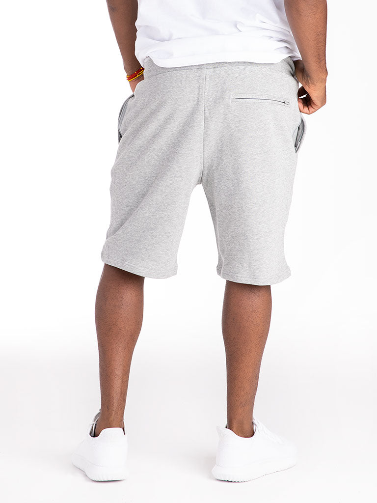 The 24 French Terry Lux Sweat Shorts in Heather Grey