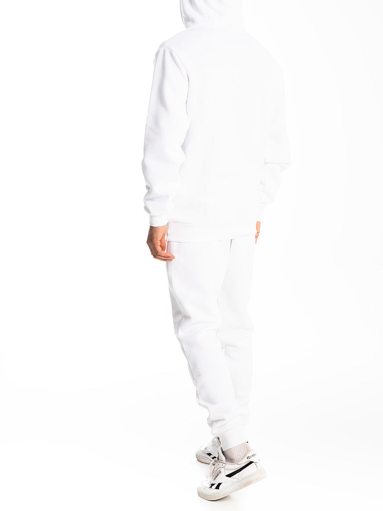 The 24 Blank Premium Pullover Hoodie in White