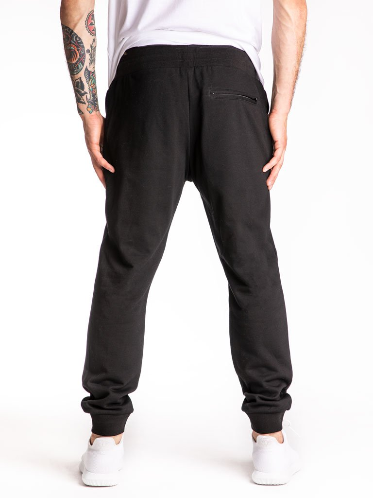 The 24 Blank French Terry Joggers in Black