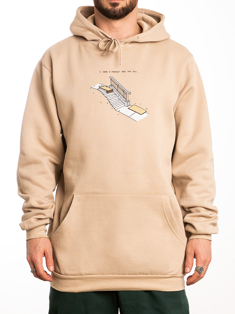 The Brother Merle Perfect Rail Pullover Hoodie in Khaki
