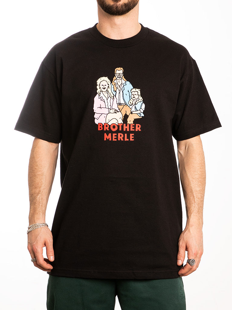 The Brother Merle Mullet Family Crew Tee in Black