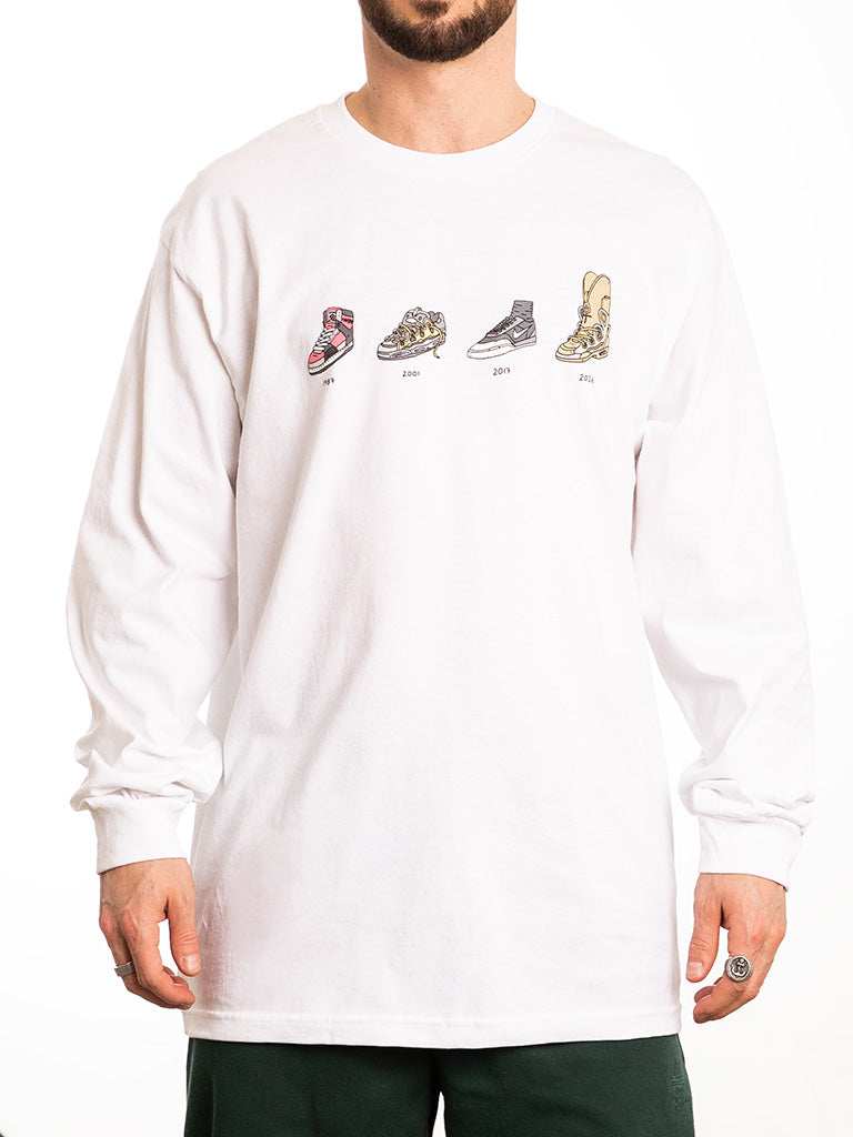 The Brother Merle Shoes Evolution L/S Tee in White