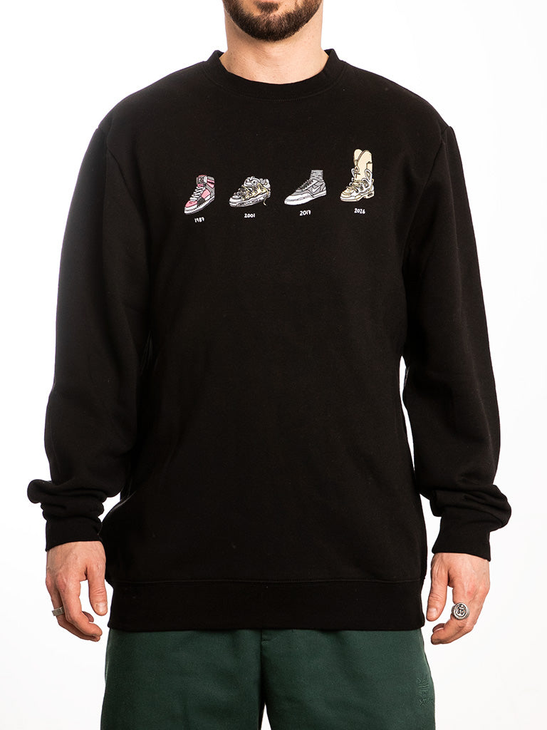 The Brother Merle Shoes Evolution Crew Sweatshirt in Black