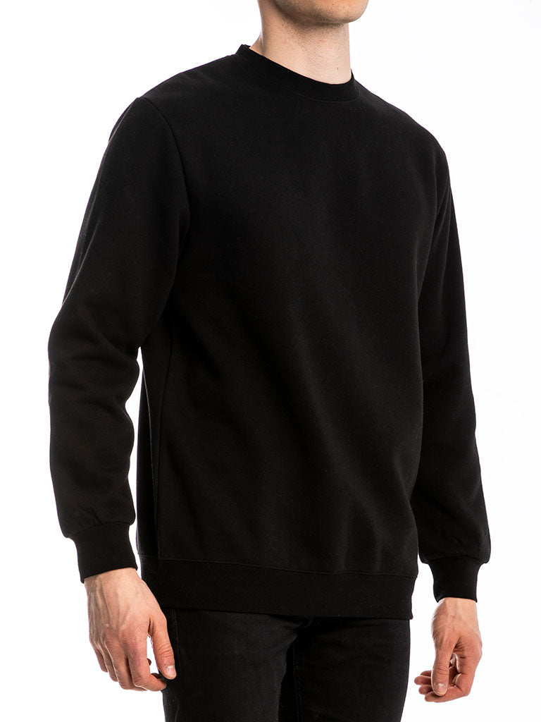 The 24 Blank Premium Crew Sweatshirt in Black