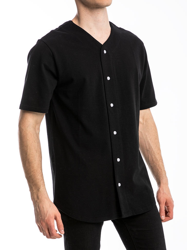 The 24 Premium Baseball Jersey in Black