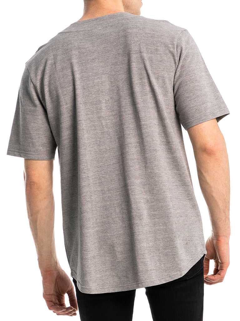 The 24 Premium Baseball Jersey in Heather Grey