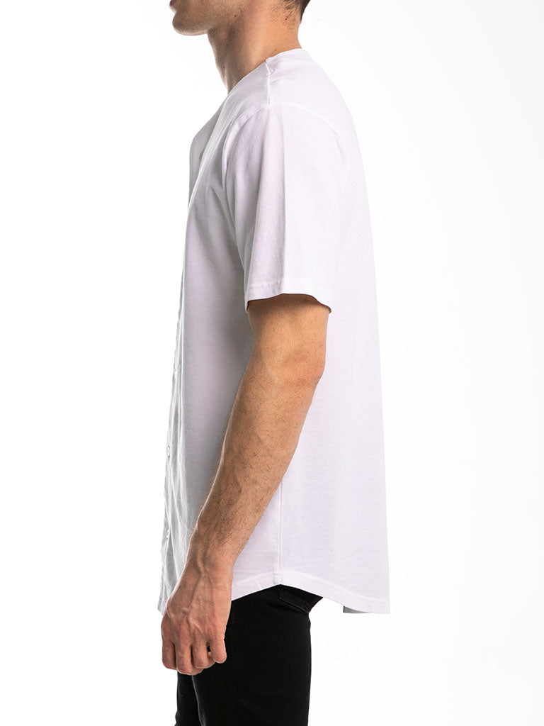 The 24 Premium Baseball Jersey in White
