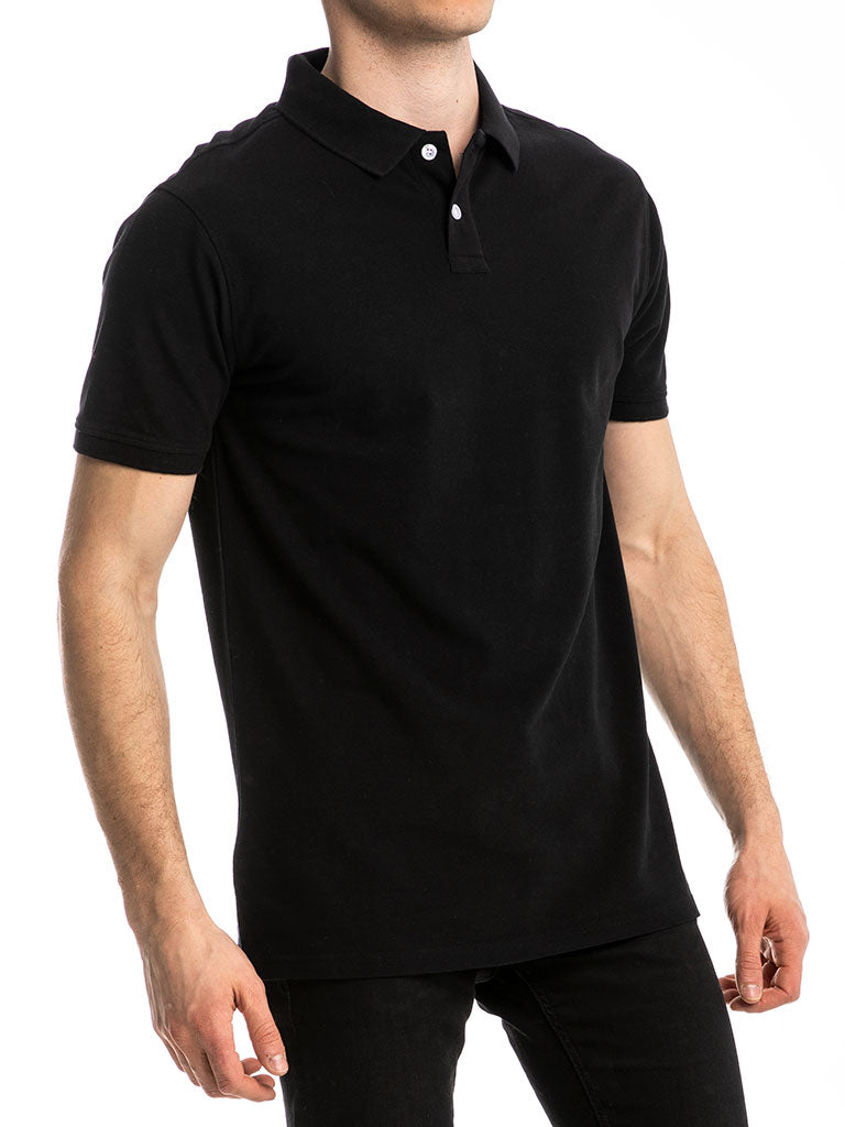 The 24 Blank Premium Polo Shirt in Black