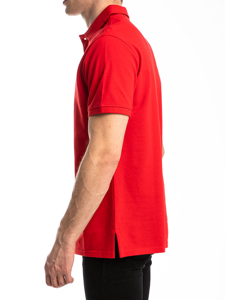 The 24 Blank Premium Polo Shirt in Red
