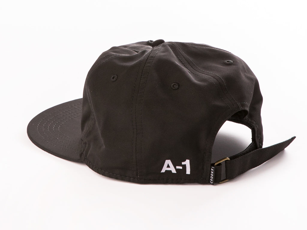 The Crooks and Castles A1 Strapback Cap in Black