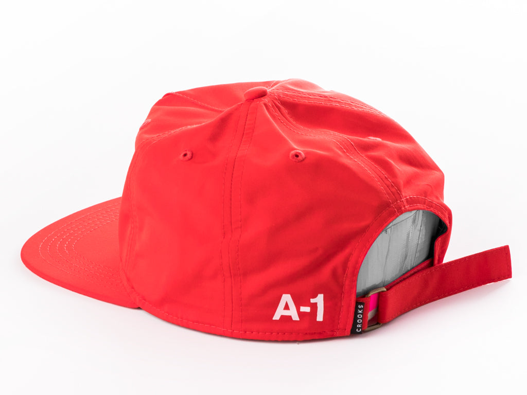 63faf99982e The Crooks and Castles A1 Strapback Cap in Red – INSTOCKSHOWROOM