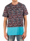 the diem saint-lucia tee in turquoise/camo