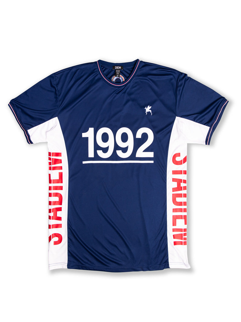 The DIEM Striker S/S Soccer Jersey in Navy
