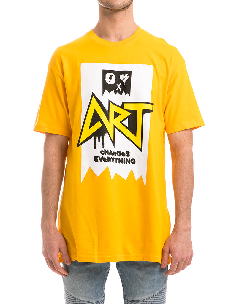 The ACE Art Knit Crew Tee in Gold