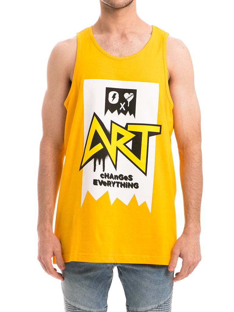 The ACE Art Knit Tank Top in Gold